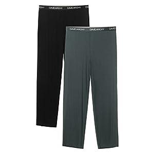 DAVID ARCHY Men's 2 Pack Bamboo Rayon Long Pajamas Pants Loungewear Sleep Bottoms