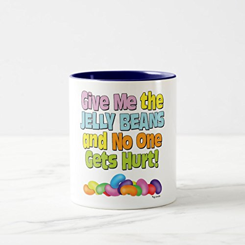 Zazzle Give Me the Jelly Beans Two-tone Coffee Mug, Navy Blu