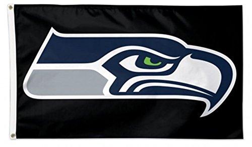 (Stockdale Seattle Seahawks WC BLACK Premium 3x5 Flag Outdoor House Banner Football)