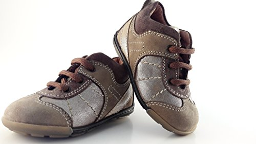 BARABEO , {Chaussures premiers pas pour bébé (garçon) marron taupe
