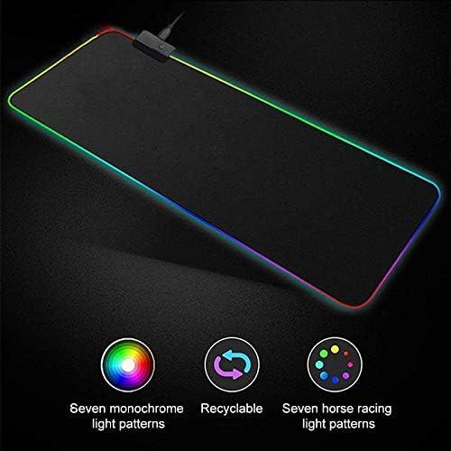 900 x 400 x 4mm HUIFANGBU Computer Illuminated Mouse Pad Size