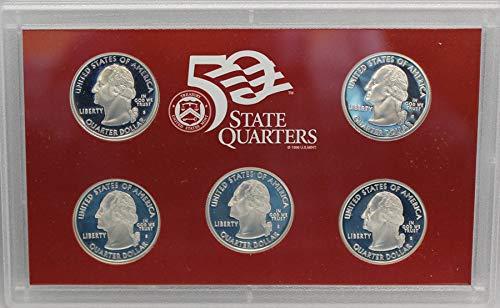 US Mint 2000 S Silver Quarter Proof Set Gem Deep Cameo