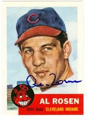 (Al Rosen autographed Baseball Card (Cleveland Indians) 1991 Topps Archives 1953#135)