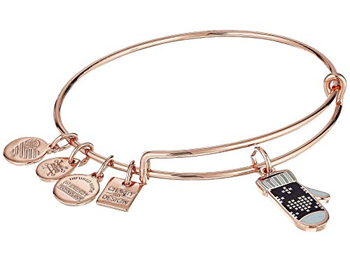 - Alex and Ani Women's Charity by Design - Mitten Bangle Shiny Rose Gold One Size