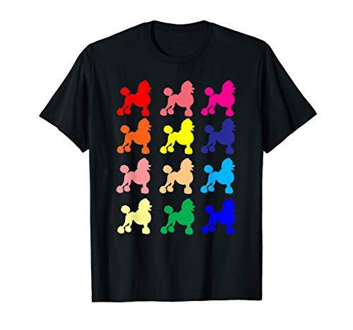 Poodle lovers dog pop art gift t shirt ()