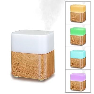 VicTsing–Difusor aceite Essential por ultrasonido portátil Cool Mist humidificador Aroma Aromaterapia/purificador de aire con luz LED en diferentes colores y fuction Auto D 'Detención Waterless Auto para casa oficina habitaciones–de 120ml