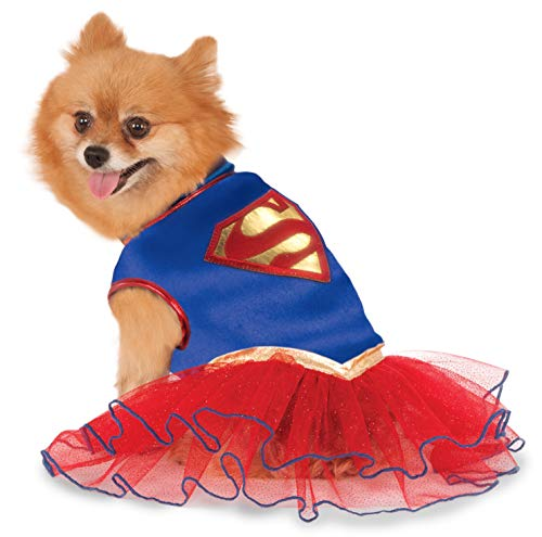 (DC Comics Super Girl Pet Tutu Dress, X-Large)
