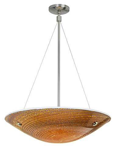 Stone Lighting CH502MOSNMC15 Chandelier Neptune Suspension Large Mocha Satin Nickel Minican 150W (Halogen Suspension)