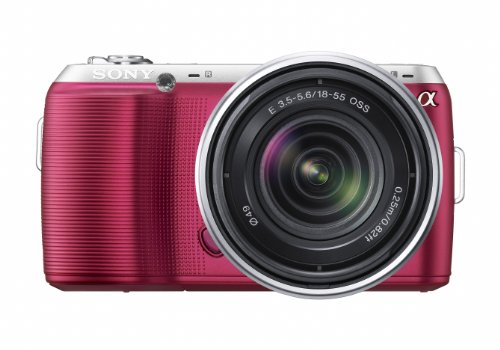 Sony Alpha NEX-C3 16 MP Compact Interchangeable Lens Digital Camera Kit with 18-55mm Zoom Lens (Pink) by Sony