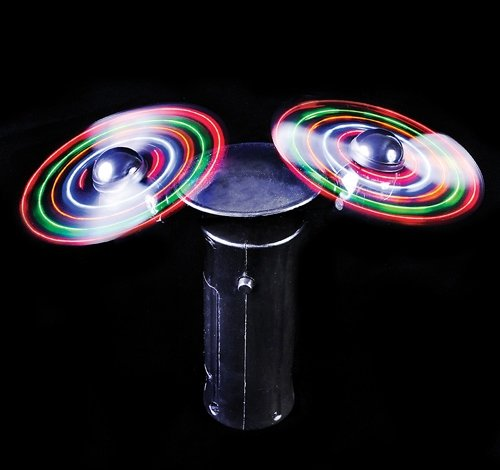 6'' LIGHT-UP DOUBLE-SPINNER FAN, Case of 24 by DollarItemDirect (Image #4)