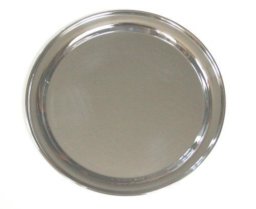 12 Inch Round Stainless Steel Serving Tray ()