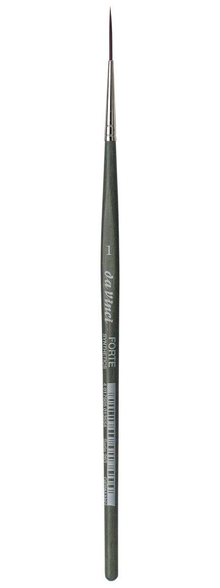 da Vinci Modeling Series 263 Forte Gaming and Craft Brush, Pointed Liner/Rigger Extra-Strong Synthetic with Blue-Green Handle, Size 1 by da Vinci Brushes