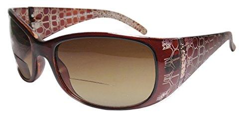 [Bifocal Reading Sunglasses New Tinted Fashion Man Woman Outside Sun Reader (Brown, 2.00)] (Women Tinted Bifocal Readers)