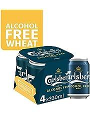 CARLSBERG Alcohol-Free Wheat Beer Can, 4 x 330ml