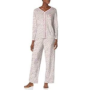 Karen Neuburger Women's Pajamas Long Sleeve Cardigan and Bottom Pj Set
