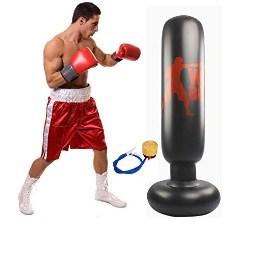Wolfsport Fitness Inflatable Kids Punching Bag Stress Punch Tower Speed Bag Stand Power Boxing MMA Target Bag for…