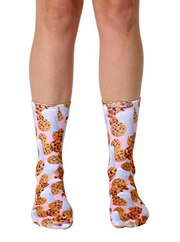 Living Royal Photo Sublimation Crew Socks (Milk and Cookies)