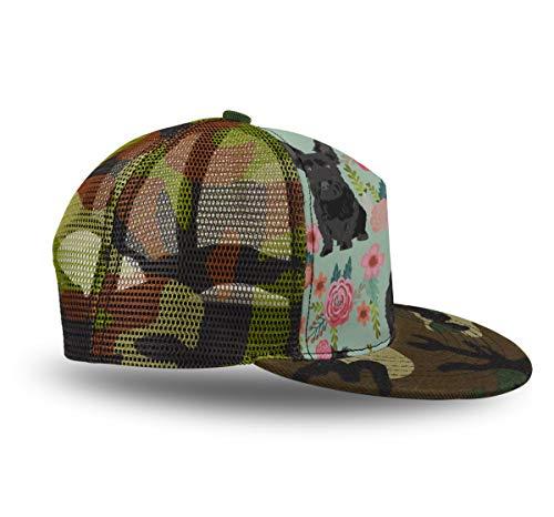 YongColer Black Scottie Dog Adjustable Baseball Cap, Unisex Hip Hop Snapback Flatbrim Hats Outdoor Sport Cap Trucker Hat