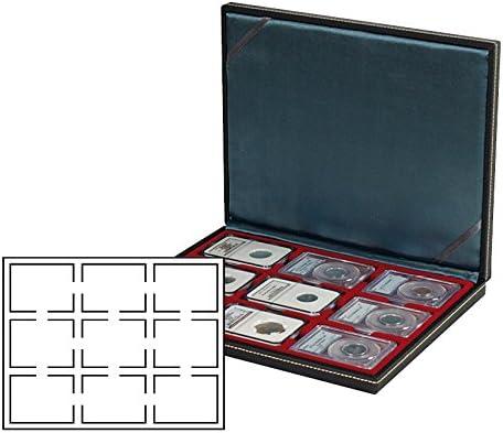 Lindner 2364-2619E Estuche monedas NERA M para 9 Slabs: Amazon.es: Juguetes y juegos