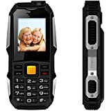 "Easy to use Cell Phones for Seniors, Elderly Phone for Seniors Loud Speaker- 2.0"" Display Big Key Pad FM Radio Camera 2G GSM Phone (T Mobile Phones,Straight Talk, Simple Mobile ) 2G ONLY-Black"