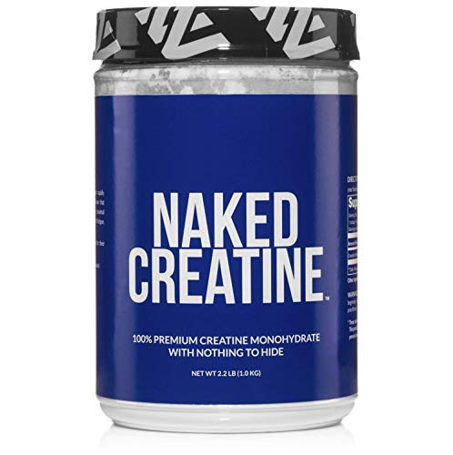 Pure Creatine Monohydrate - 200 Servings - 1,000 Grams, 2.2lb Bulk, Vegan, Non-GMO, Gluten Free, Soy Free. Aid Strength Gains, No Artificial Ingredients - NAKED CREATINE