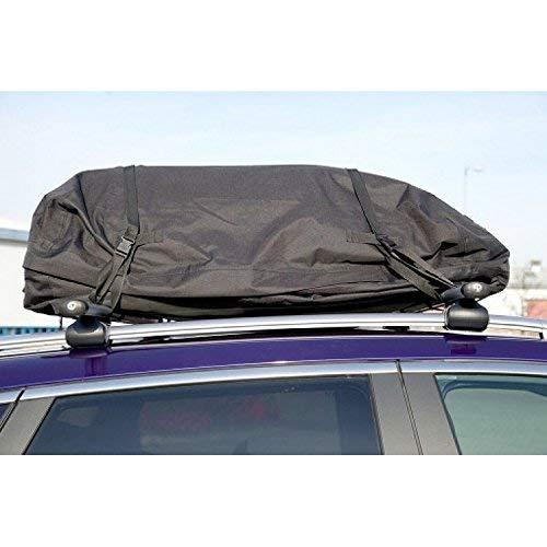 Basics Expandable Hitch Rack Cargo Carrier Bag expandable to 325 litres. 250 litres Black