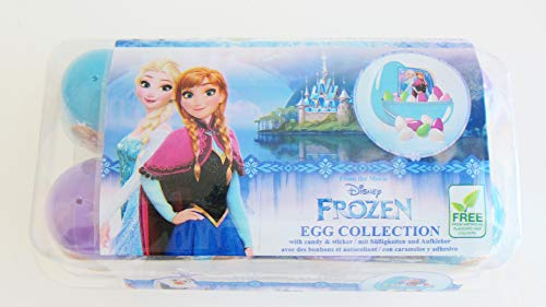 BBB Disney Frozen Surprise Eggs with Candy and Stickers-Pack of 8 Eggs - 8 x 6g ()