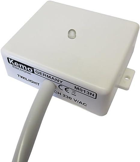 off ZEYUN cr/épusculaire interrupteur 230V 6A lumi/ère du jour capteur lumi/ère interrupteur on