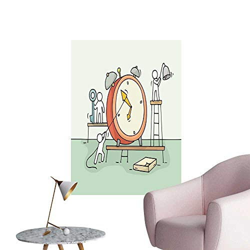 SeptSonne Wall Painting Sketch larm Clock Work Little for sale  Delivered anywhere in USA