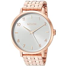 Nixon Women's 'Arrow' Quartz Stainless Steel Casual Watch, Color:Rose Gold-Toned (Model: A10902640-00)