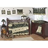 Sweet Jojo Designs 3-Piece Green Camo Children's and Teen Full / Queen Boys Bedding Set