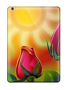 Ipad Case - Tpu Case Protective For Ipad Air- Colorful Rose