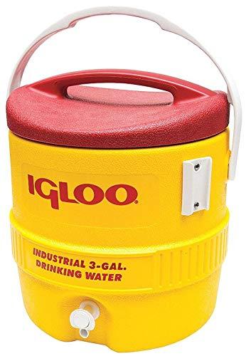 Igloo Beverage Cooler, 3 gal, Yellow