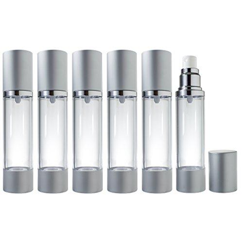 Airless Spray Bottle Silver Matte - 1.7 oz