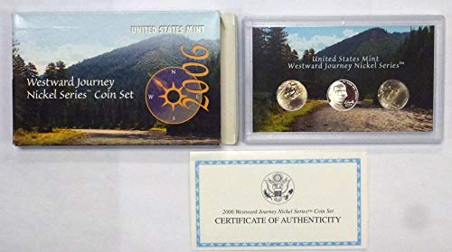 2006 P D S Westward Journey Nickel Series 3 Coin Set Proof Uncirculated  ()