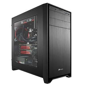 Corsair Obsidian Series 350D - Caja de ordenador de alto rendimiento mATX con ventana, negro (CC-9011029-WW)