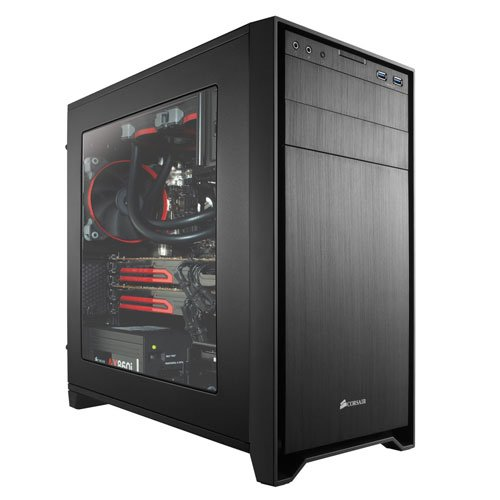 Corsair Obsidian Series 350D Performance Micro ATX Computer Case with Windowed Side Panel  - Black