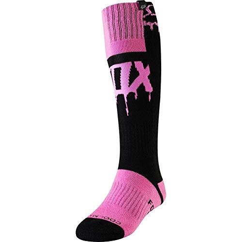 2019 Fox Racing Womens Mata Drip MX Socks-Black/Pink (Fox Womens Boots)