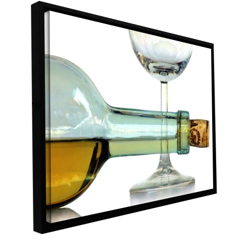 'Bottle Plus Glass' by Dan Holm Framed Photographic Print on Wrapped Canvas 0hol007a1624f