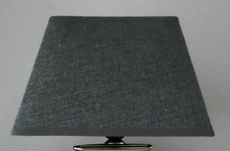 Lámpara Pantalla cuadrado 20 cm x 20 cm, estructura gris Lino: Amazon.es: Hogar