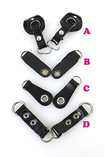 Camera Strap Lug Rings with Leather Protectors •• 1 Set ••