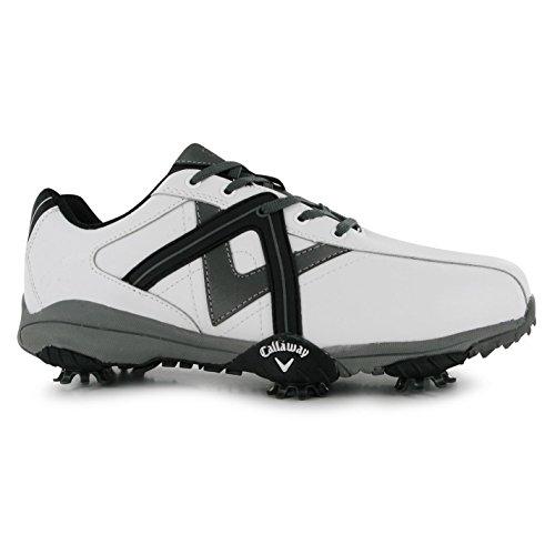 Callaway Cheviot ll Golf Shoes Mens White/Black Golfing Footwear Shoe (UK9) (EU43) (US10)