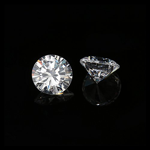 10mm Flawless Clear Cubic Zirconia Stones Round Brilliant-Cut Cz Stone Settings