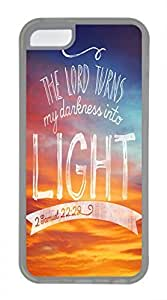 iPhone 5c case, Cute The Lord Turns My Darkness Into Light iPhone 5c Cover, iPhone 5c Cases, Soft Clear iPhone 5c Covers