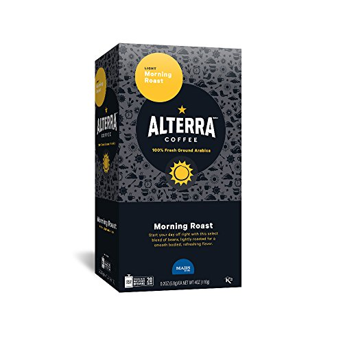ALTERRA Coffee Morning Roast Single Serve Freshpacks for MARS DRINKS FLAVIA Brewer, 20 Packets, 40 Oz