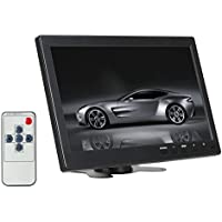 ATian 10.1 inch IPS 1280x800 HD Color Display Screen Security CCTV Surveillance Monitor Video and Audio Wide Viewing Angle AV/VGA/HDMI/BNC/USB MP5 Input w/ Speaker
