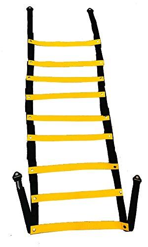 Escalera de Agilidad Flexible, 5 mt, 9 peldaños, Temática Samurai, con marcas de perdida calorífica, peldaños fijos,...