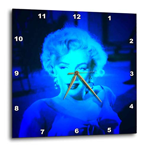 3D Rose Marilyn Monroe. Legendary Screen Actress. Blue Wall Clock, 13 x 13 ,