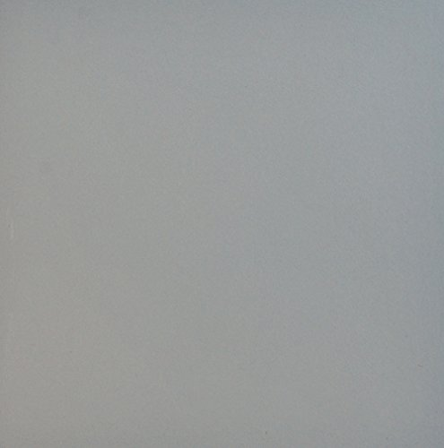 8X8 Soft Grey Matte Porcelain Stoneware Tile Bathroom Kitchen Entryway Thickness 1/2 inch ()