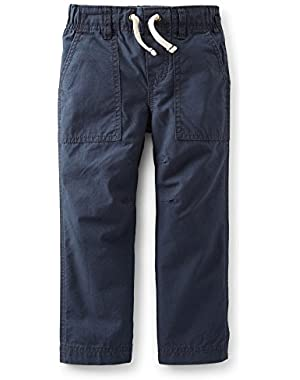 Baby Boys Woven Ripstop Pants Navy